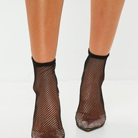 Missguided - Black Fishnet Boots