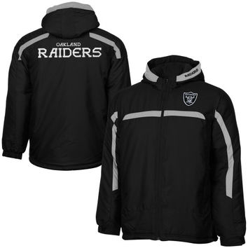 Oakland Raiders Youth Contrast Stripe Midweight Full Zip Jacket - Black - http://www.shareasale.com/m-pr.cfm?merchantID=7124&userID=1042934&productID=524605826 / Oakland Raiders