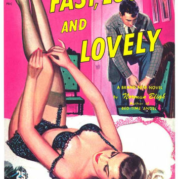 Fast, Loose, and Lovely 11x17 Retro Book Cover Poster