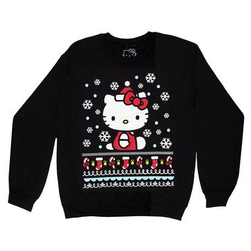 Hello Kitty Womens Christmas Ugly Sweater