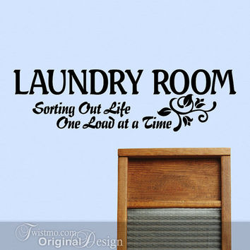 RESERVED for N: Custom Sized Laundry Room Wall Decor Sign -- Sorting Out Life One Load at a Time
