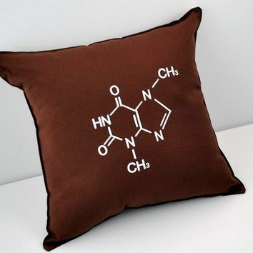 Chocolate Molecular Structure Pillow
