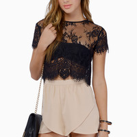 Charmed Lace Top $48