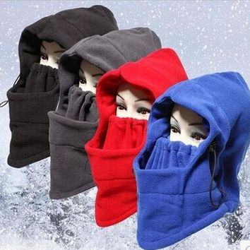 Winter Warm Fleece Beanies Hats For Men Skull Bandana Neck Warmer Balaclava Ski Snowboard Face Mask Wargame Special Forces Mask