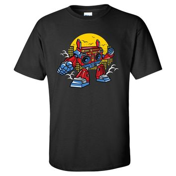 Boom Box Robot Mens/Unisex T Shirt
