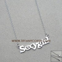 Shopping Cheap Tiffany and Co Sexygirl Charm Pendant Necklace At Tiffanyco925.com - Discount Tiffany Necklaces