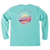 Escape the Ordinary Long Sleeve Tee in Turquoise by The Southern Shirt Co.