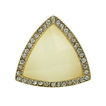 Lucite Stone Triangle Ring