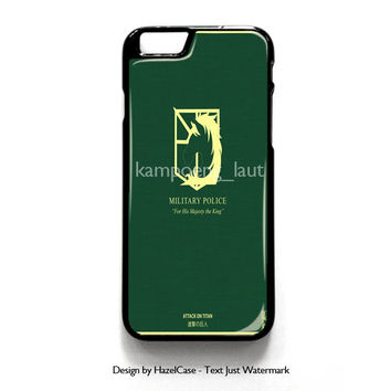 Military Police, Shingeki No Kyojin, Attack On Titan for iPhone 4 4S 5 5S 5C 6 6 Plus , iPod Touch 4 5  , Samsung Galaxy S3 S4 S5 Note 3 Note 4 , and HTC One X M7 M8 Case Cover