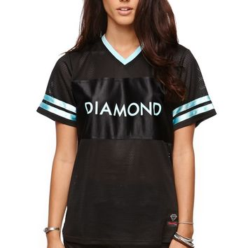 Diamond Supply Co 98 Short Sleeve Jersey T-Shirt - Womens Tee - Black - Medium