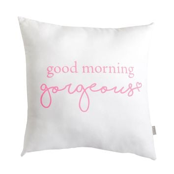 Good Morning Gorgeous Script Pillow