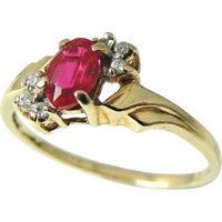 Ruby and Diamond Ring 10k Gold