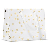 Sugar Paper White with Gold Stars Gift Bag