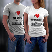 Raiders, Oakland Raiders Couples Shirts, Personalized Couple Shirts. Ladies and Men Tshirt