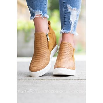 Josie Chic Wedge Sneaker | Tan