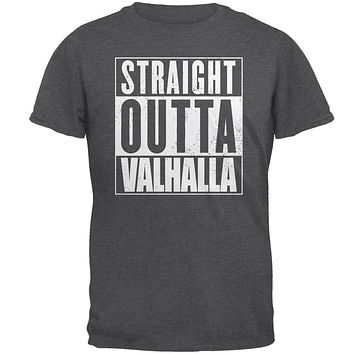 Straight Outta Valhalla VIking Valkyrie Mens T Shirt