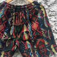 Woven Shorts Men Geometric Aztec Southwestern Tribal Hippie Boho festival Gypsy Ethnic Style Clothing Beach Summer Burning man Coachella gif