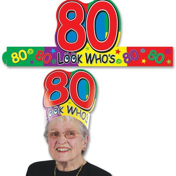 Look Who's 80 Headband Case Pack 48