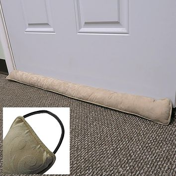 Evelots Door/Window Draft Stopper-36 Inch-Hanging Hook-No Cold Air/Noise/Insect