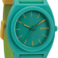 Nixon Time Teller P Yellow To Teal Fade Analog Watch