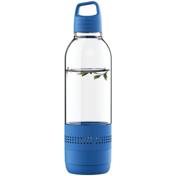 Sylvania Water Bottle With Integrated Bluetooth Speaker (blue)