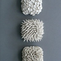Set of 3 Micro Wall Tiles by elementclaystudio on Etsy