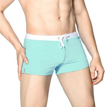 Maillot De Bain  Men Boxer Shorts Swim Trunks