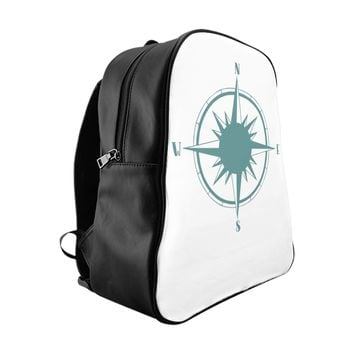 Nautical Sailing Compass School Backpack