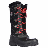 Sporto Connie Tall Water Resistant Winter Boots, Black, 7 US