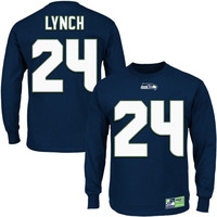 Marshawn Lynch Seattle Seahawks Eligible Receiver II Long Sleeve T-Shirt – Navy Blue