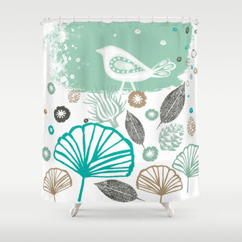 Winter Sonata Shower Curtain by Illustrationbycatherine