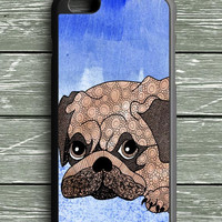 Painting Pug iPhone 6S Plus Case