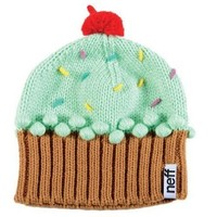Neff Women's Cupcake Beanie Hat, Mint, One Size