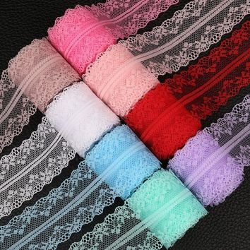 10yds 40mm Wide Handcrafts Embroidered african lace fabric Trim Diy Clothes Wedding Party Christmas Ribbons applique Decoration