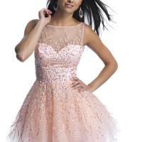 Dave & Johnny 9888 - Pink Illusion Sweetheart Dresses Prom Dresses Online