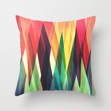 Mountain Sunset Throw Pillow by VessDSign