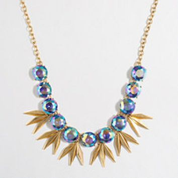 J. Crew IRIDESCENT CIRCLES AND POINTS NECKLACE #F2261
