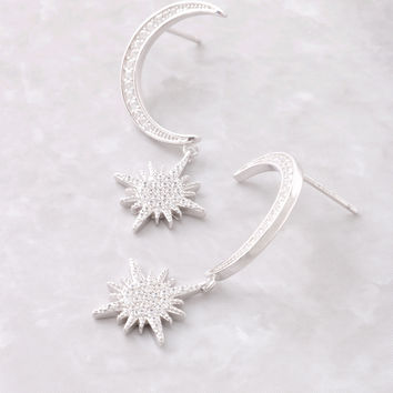 Lunar Eclipse Sterling Silver Earrings