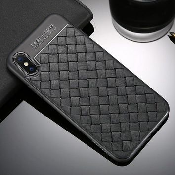 Silicone Soft Grid iPhone Case