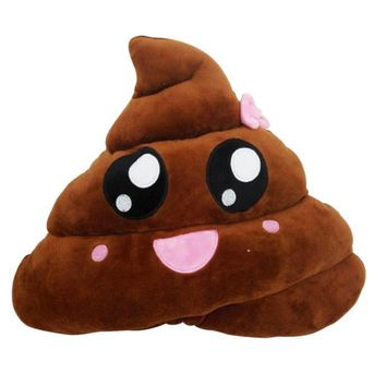 Amusing Emoji Emoticon Poo Shaped Pillow