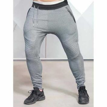 Drop Crotch Jogger Pants - Deep Gray Xl