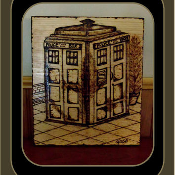 Mens gifts, male gift ideas, Dr who gifts, Dr who the Tardis, Tardis, Sci fi gifts, wood burned plaques,  man cave,Pirates of the Caribbean