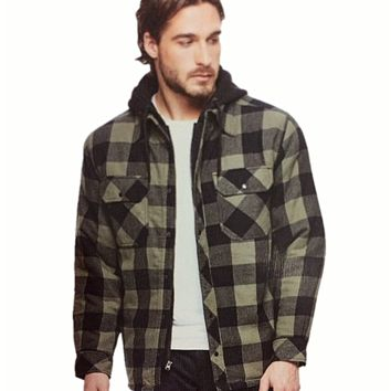 NEW!! Boston Traders Men's Hooded Flannel Jacket VARIETY