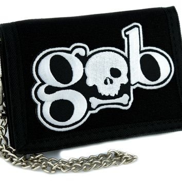 GOB Skull Tri-fold Wallet Alternative Clothing Hardcore Gamer Dungeons and Dragons