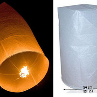 BUY 1 GET 1 FREE  White Thai Floating Lantern, Sky Lantern, Flying Balloon,Wish Lantern, Tangled, Romantic Moment, Wedding, Birthday, etc