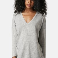 Women's Topshop Front Seam V-Neck Sweater,