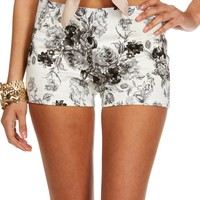Sale-white/black Rose Printed