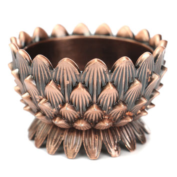 Hot Selling good looking Retro Romantic Lotus Candles Holder Copper Candle Holder For Cafe Home Restaurant