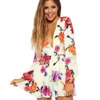 New Women spring Summer Jumpsuits Flower printing playsuit Floral Printed Rompers