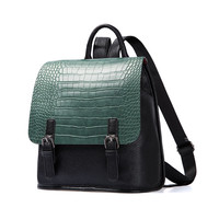 Aliexpress.com : Buy AMELIE GALANTI Ladies fashion leisure backpack Color matching Crocodile grain PU Simple and small Styles of young people 2017 from Reliable backpack fashion suppliers on AMELIE GALANTI official store